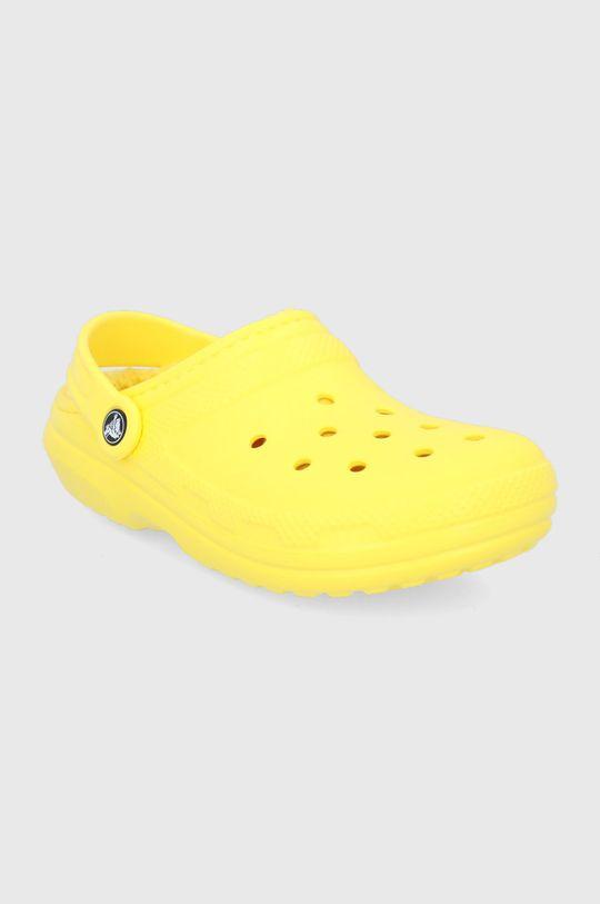 Crocs - Kapcie żółty