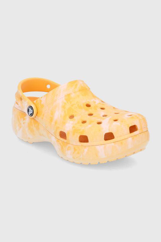 Crocs - Klapki pomarańczowy