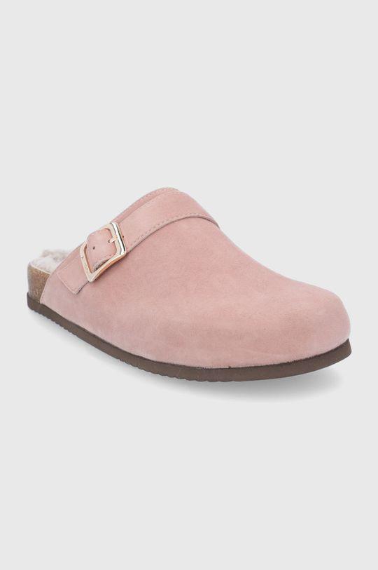 Aldo - Semišové papuče WFH růžová