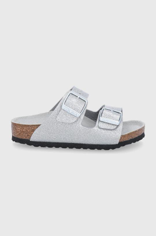 stříbrná Birkenstock - Dětské pantofle ARIZONA Dívčí