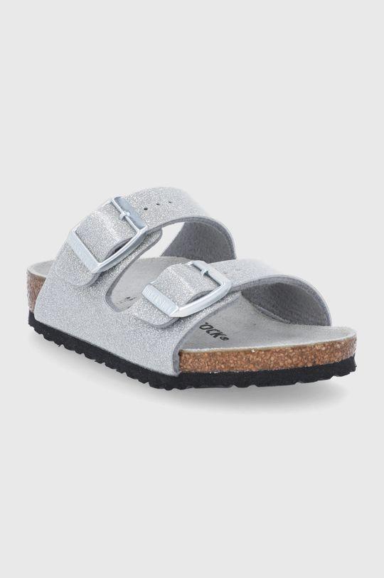 Birkenstock - Dětské pantofle ARIZONA stříbrná