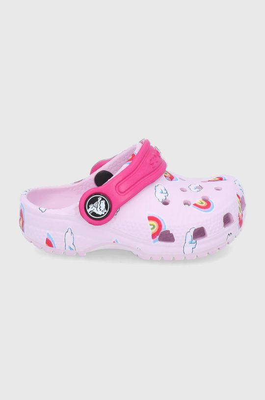 różowy Crocs - Klapki dziecięce Classic Toddler Printed Clog Kids Dziewczęcy