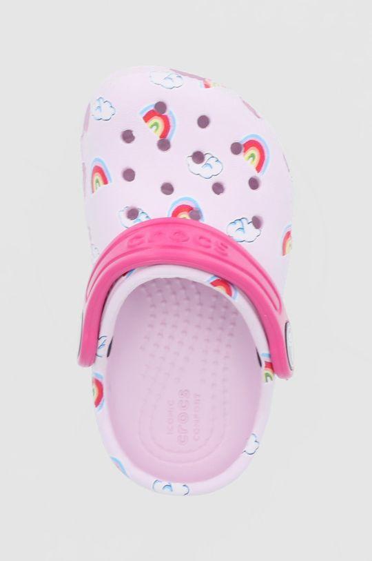 różowy Crocs - Klapki dziecięce Classic Toddler Printed Clog Kids