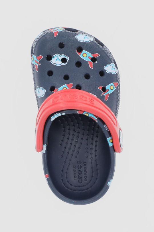 granatowy Crocs - Klapki dziecięce Classic Toddler Printed Clog Kids