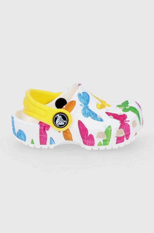 biały Crocs - Klapki dziecięce Dziewczęcy
