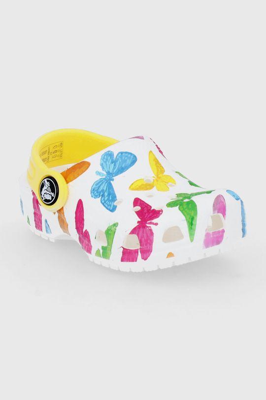 Crocs - Klapki dziecięce biały