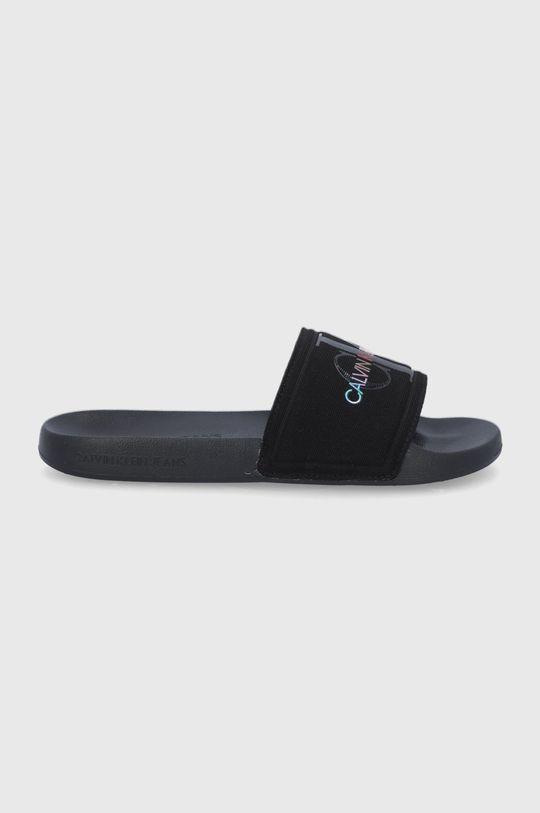 černá Calvin Klein Jeans - Pantofle Pánský