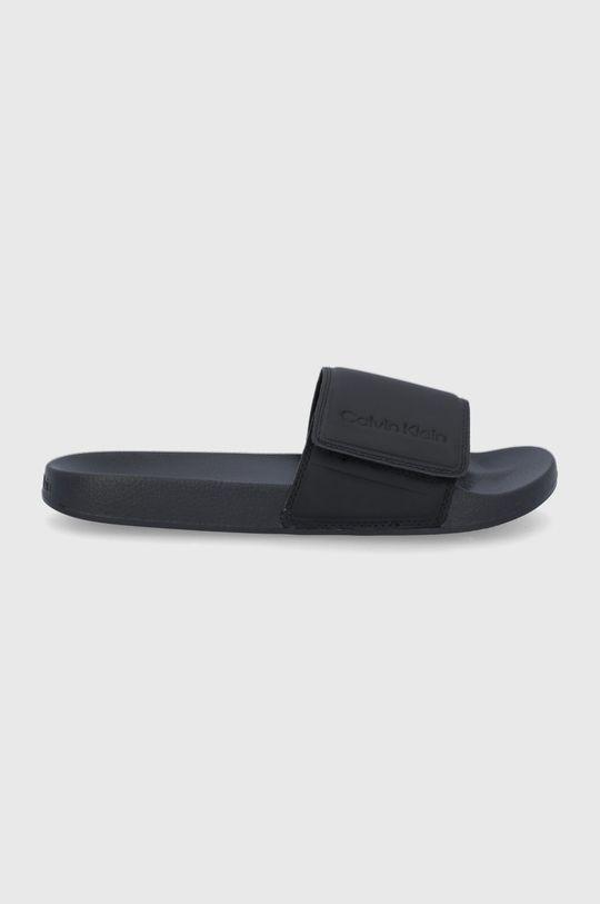 czarny Calvin Klein Jeans - Klapki Męski
