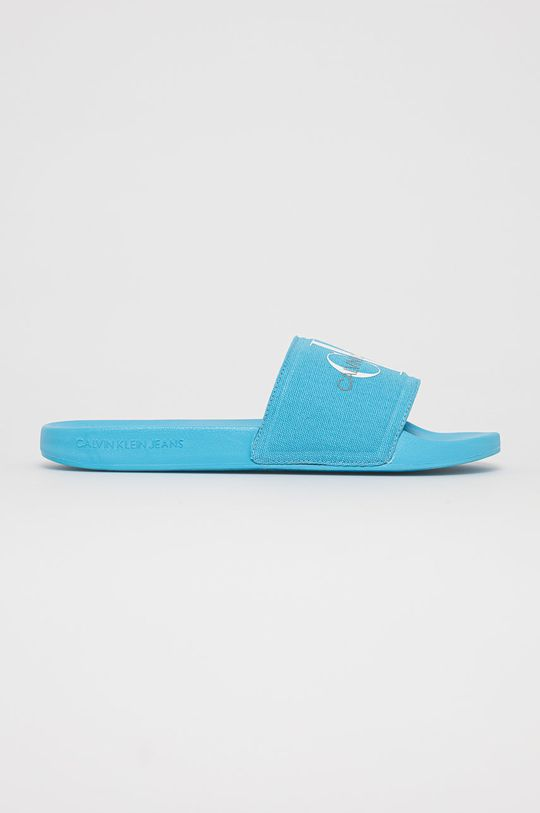 modrá Calvin Klein Jeans - Pantofle Pánský