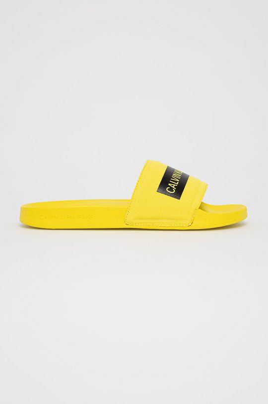 żółty Calvin Klein Jeans - Klapki Męski
