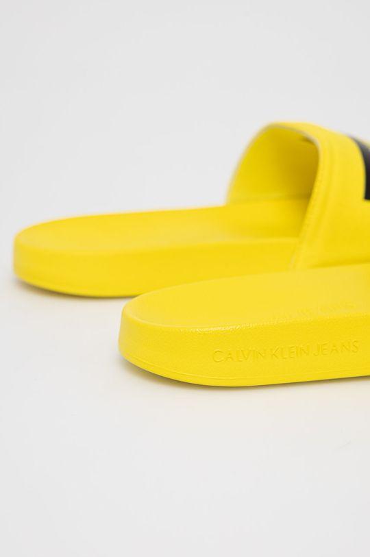 Calvin Klein Jeans - Klapki Cholewka: Materiał tekstylny, Wnętrze: Materiał syntetyczny, Materiał tekstylny, Podeszwa: Materiał syntetyczny