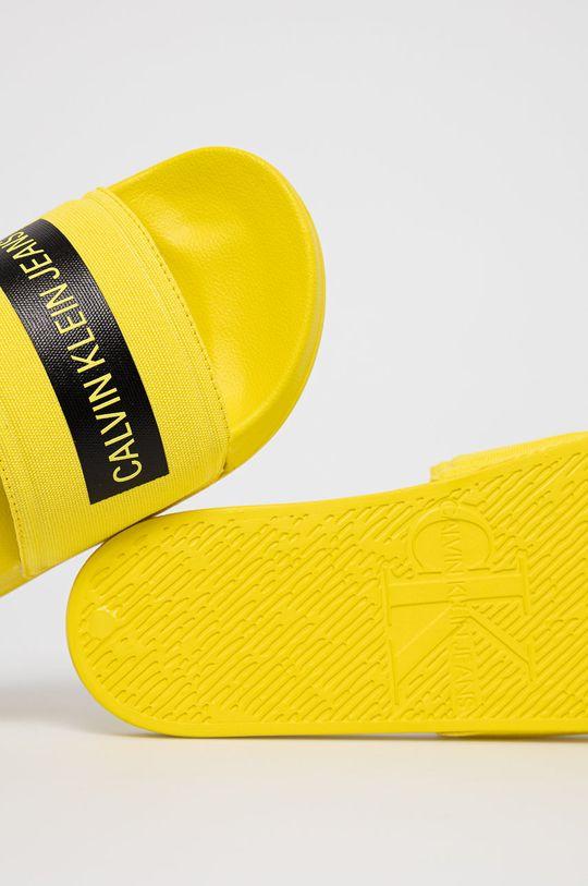 żółty Calvin Klein Jeans - Klapki