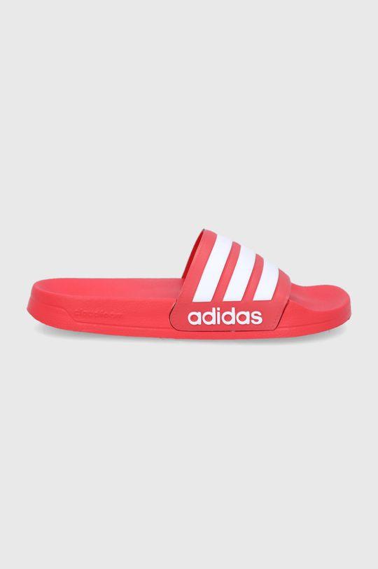 czerwony adidas - Klapki Adilette Męski