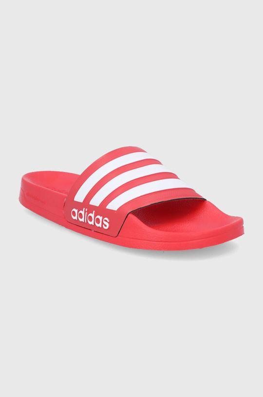adidas - Klapki Adilette czerwony