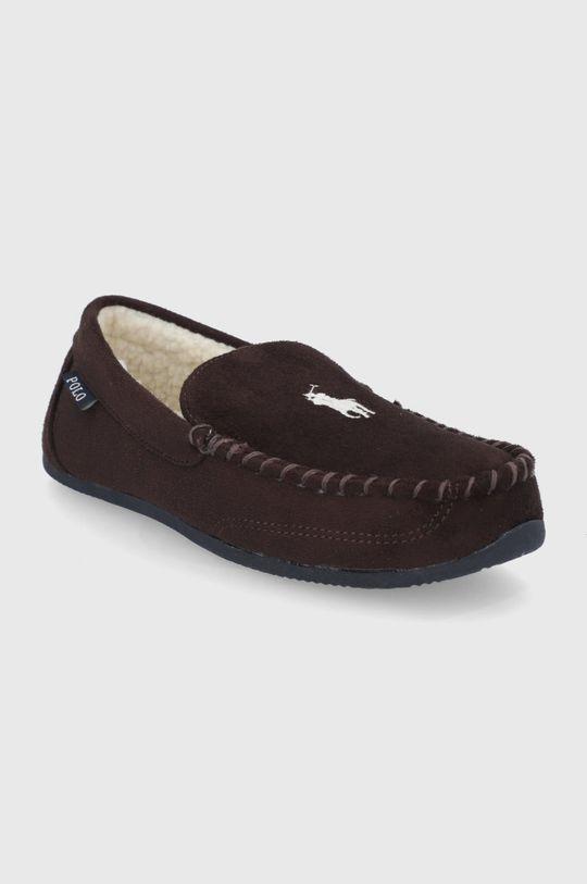 Polo Ralph Lauren - Papuci de casa maro inchis