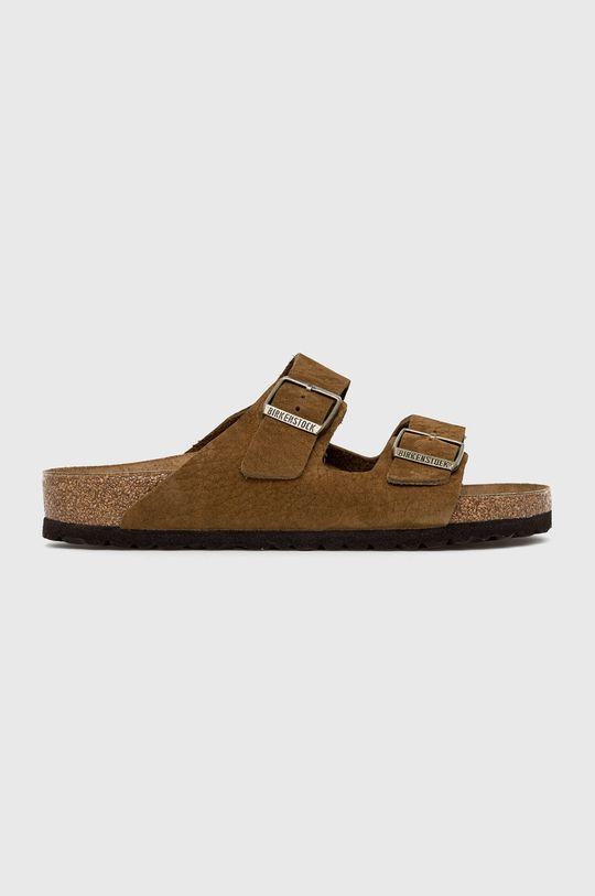 hnědá Birkenstock - Kožené pantofle Arizona Pánský