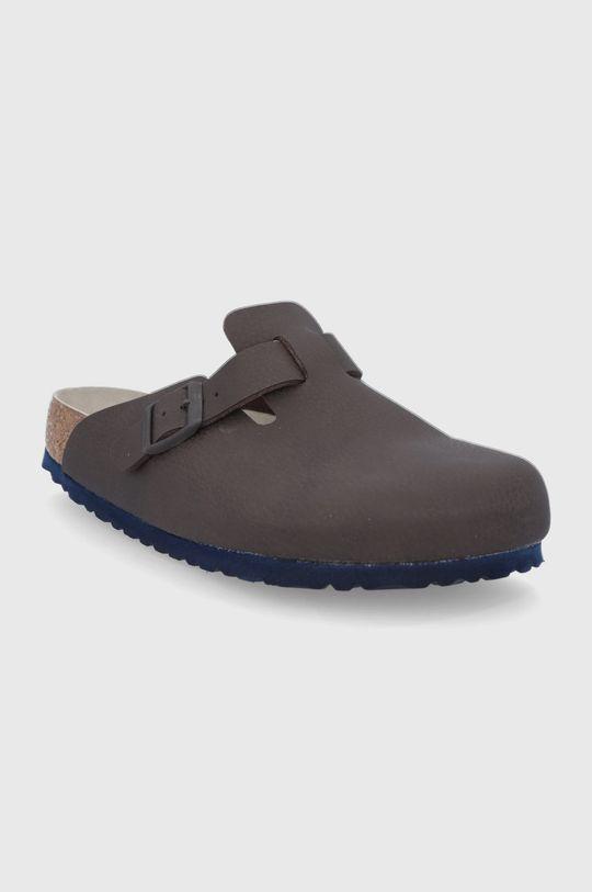 Birkenstock - Pantofle Boston tmavě hnědá