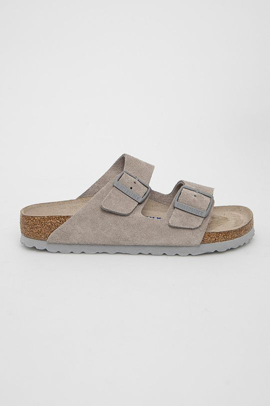 šedá Birkenstock - Semišové pantofle Arizona Unisex