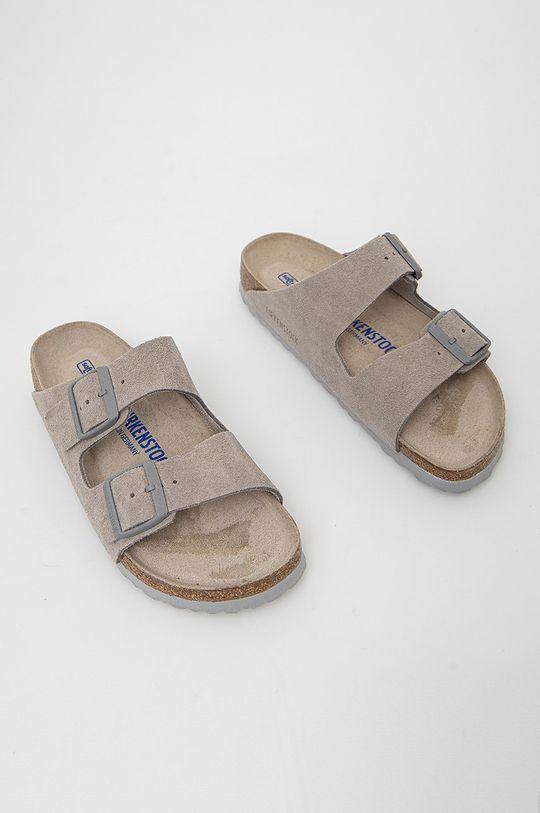 Birkenstock - Semišové pantofle Arizona šedá