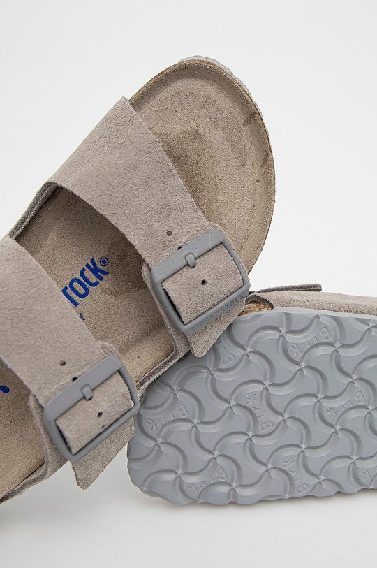 šedá Birkenstock - Semišové pantofle Arizona