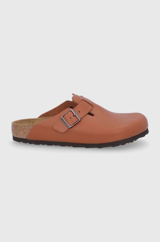 hnědá Birkenstock - Kožené pantofle Boston Unisex