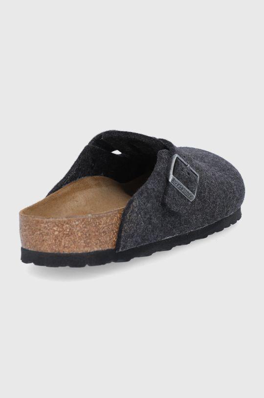 Birkenstock - Kožené papuče Boston  Svršek: Vlna Vnitřek: Textilní materiál, Přírodní kůže Podrážka: Umělá hmota