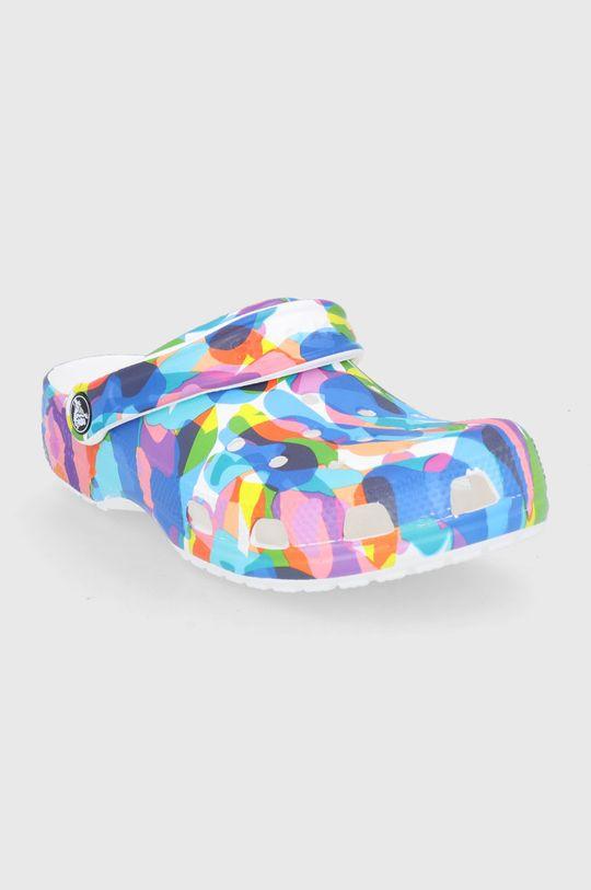 Crocs - Klapki Classic Bubble Block Clog niebieski