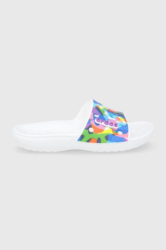 biały Crocs - Klapki Bubble Block Slide Unisex