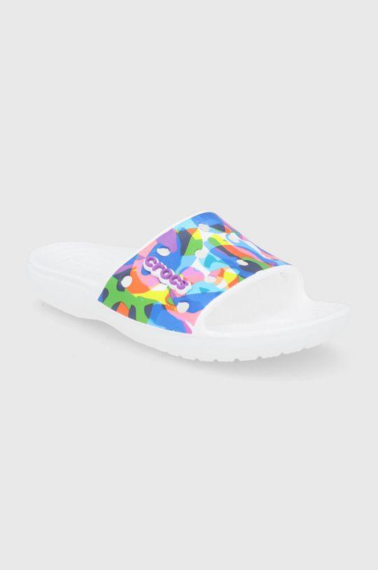 Crocs - Klapki Bubble Block Slide biały