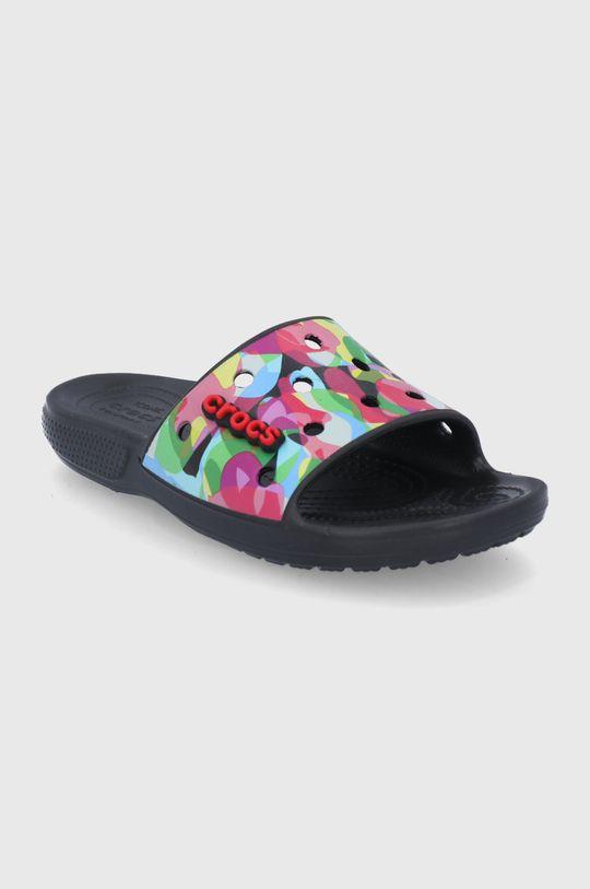 Crocs - Klapki Bubble Block Slide czarny