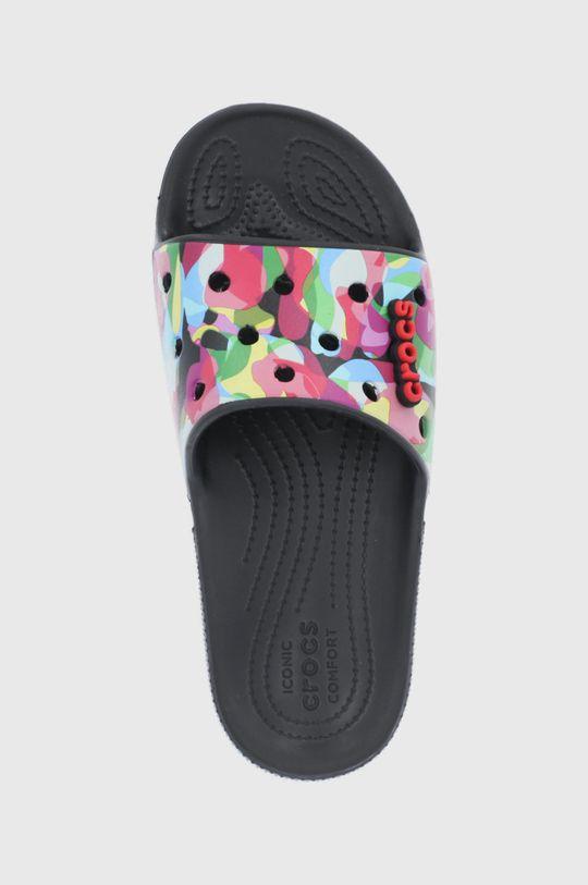 czarny Crocs - Klapki Bubble Block Slide