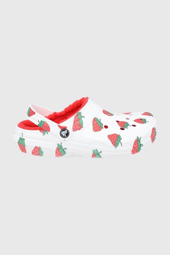 biały Crocs - Kapcie Unisex