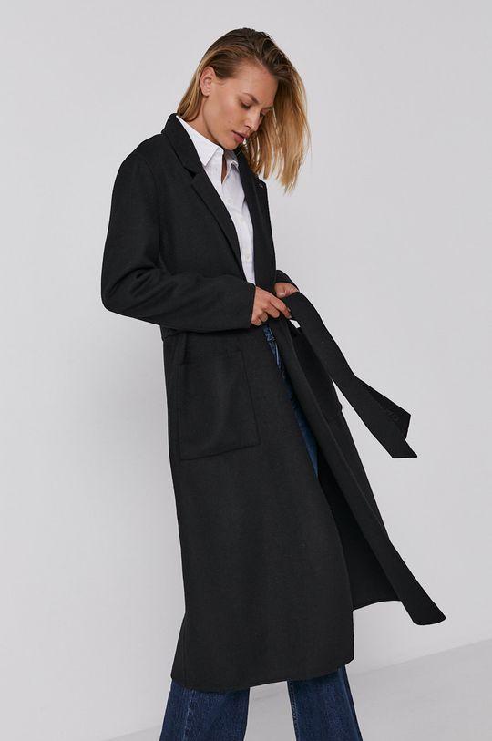 czarny Calvin Klein - Płaszcz Damski