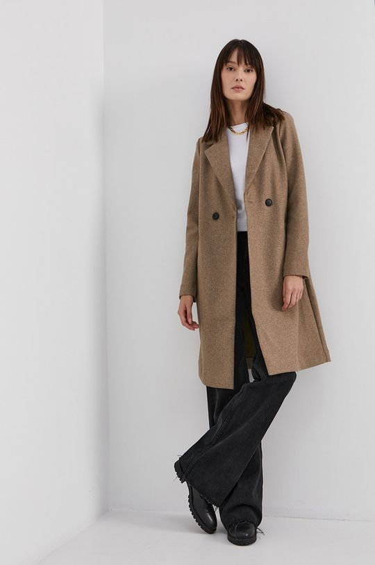 Vero Moda - Kabát béžová