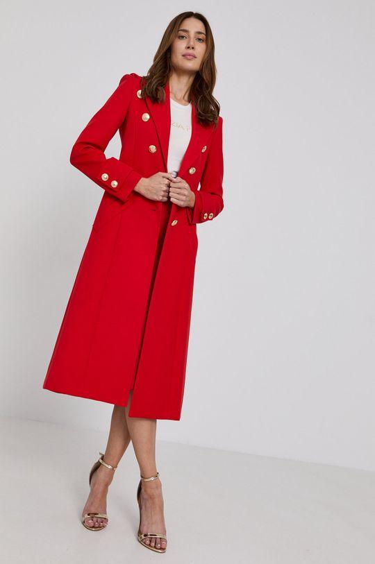 červená Patrizia Pepe - Kabát Dámský