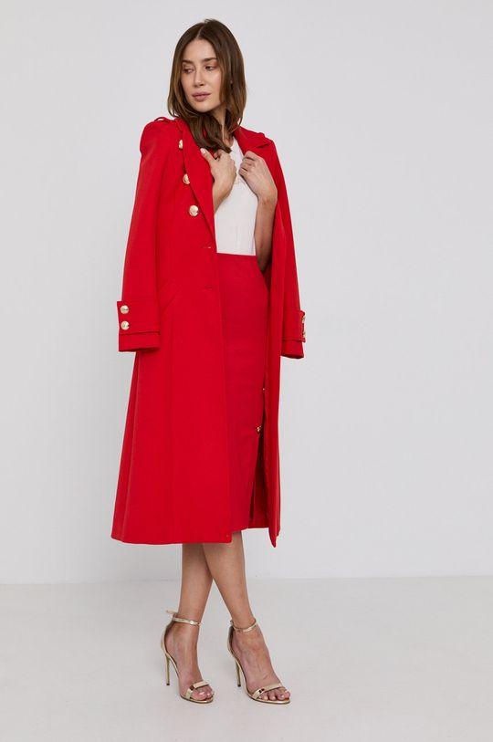 červená Patrizia Pepe - Kabát