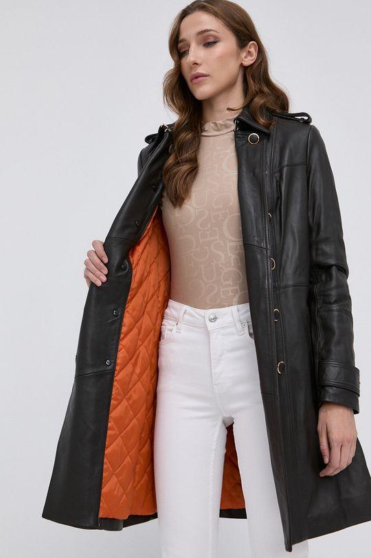 Guess - Płaszcz skórzany