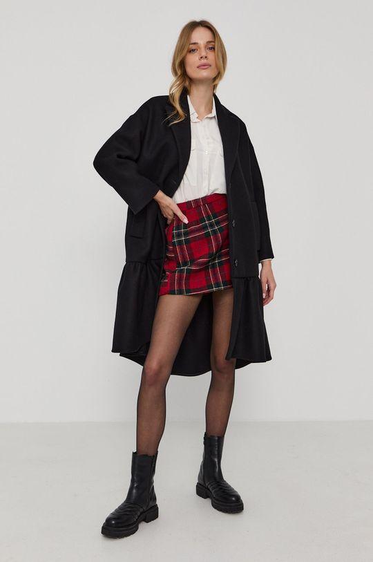 Red Valentino - Kabát černá