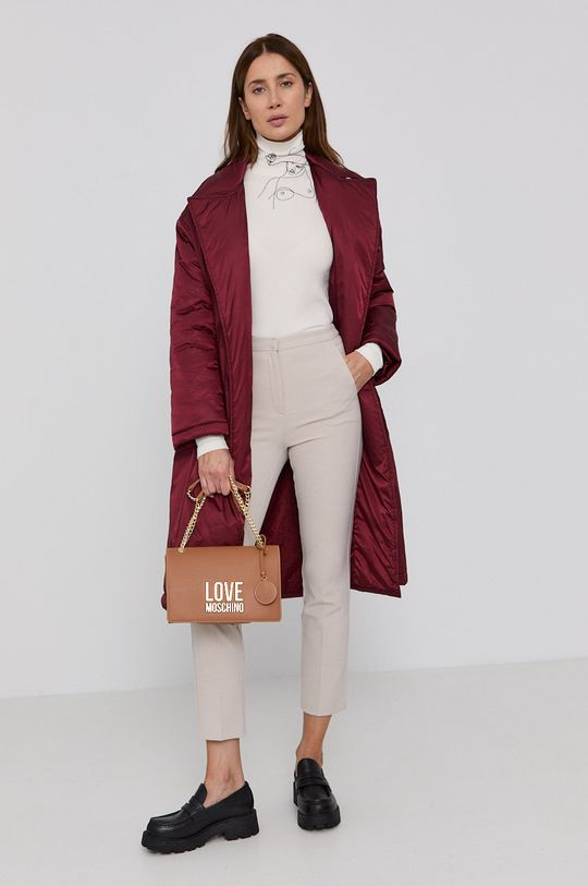 Red Valentino - Kabát kaštanová