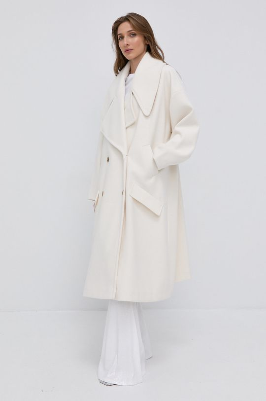 Twinset - Płaszcz kremowy