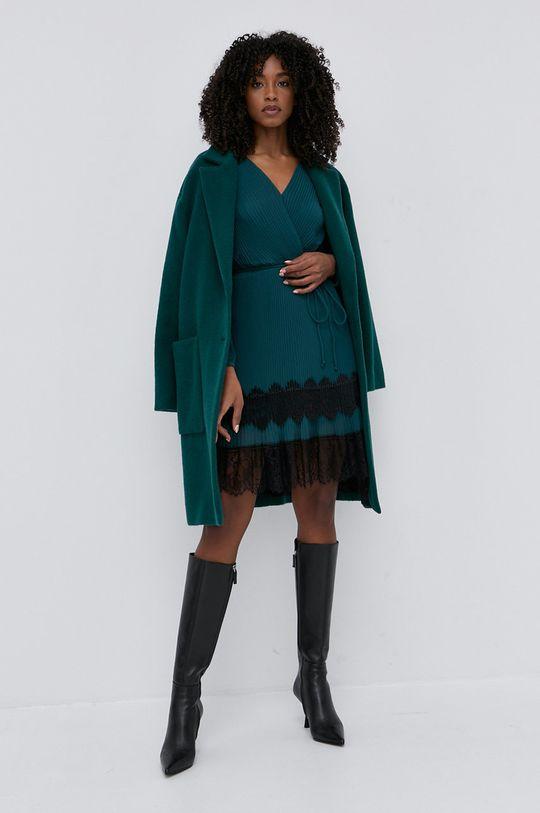 tyrkysová Twinset - Vlněný kabát Dámský