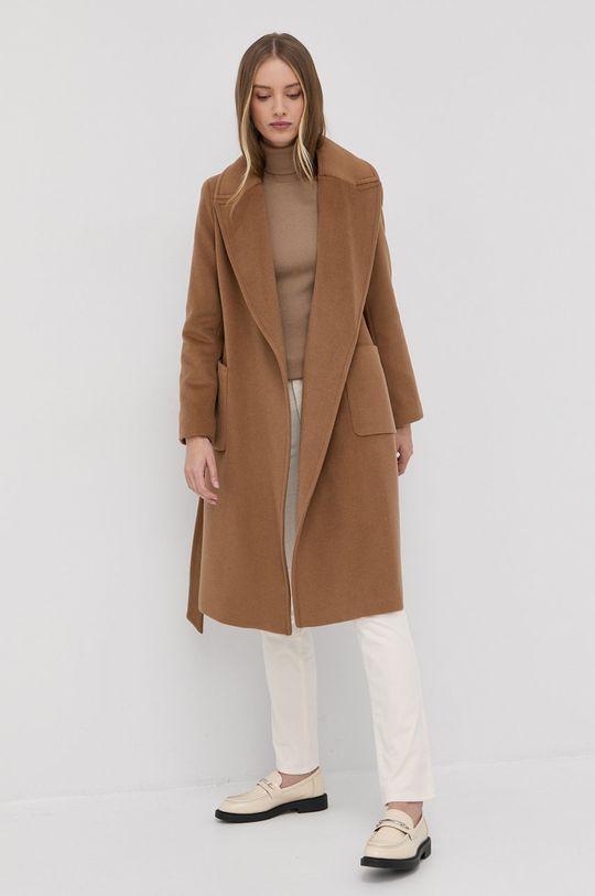 Lauren Ralph Lauren - Płaszcz złoty brąz