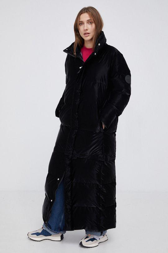 czarny Rains - Kurtka 1536 Extra Long Puffer Coat Damski