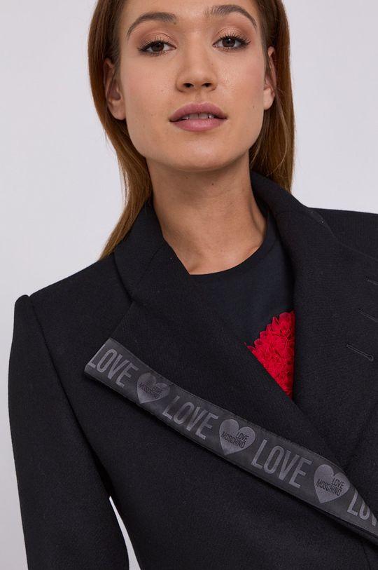 czarny Love Moschino - Płaszcz