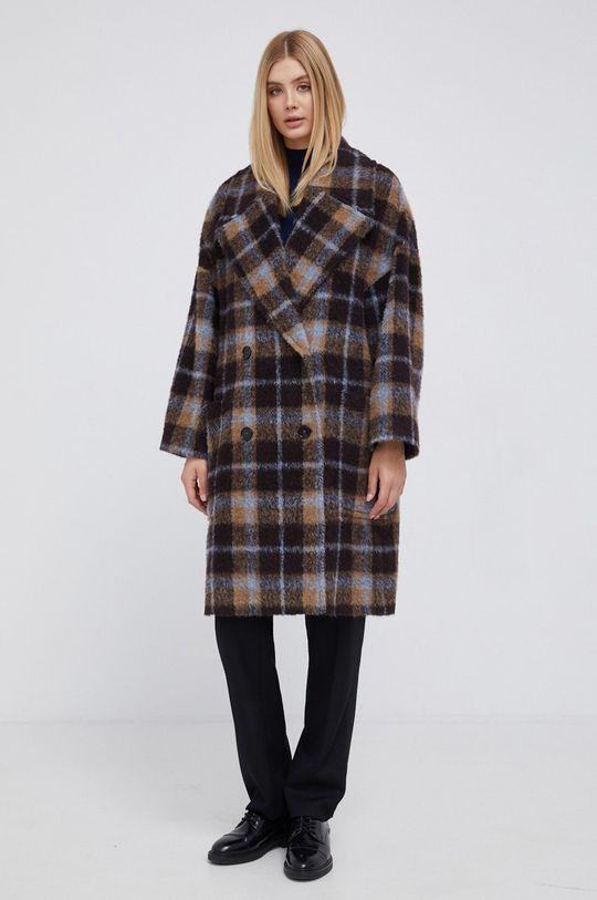 brązowy Drykorn - Płaszcz z domieszką wełny Loughton