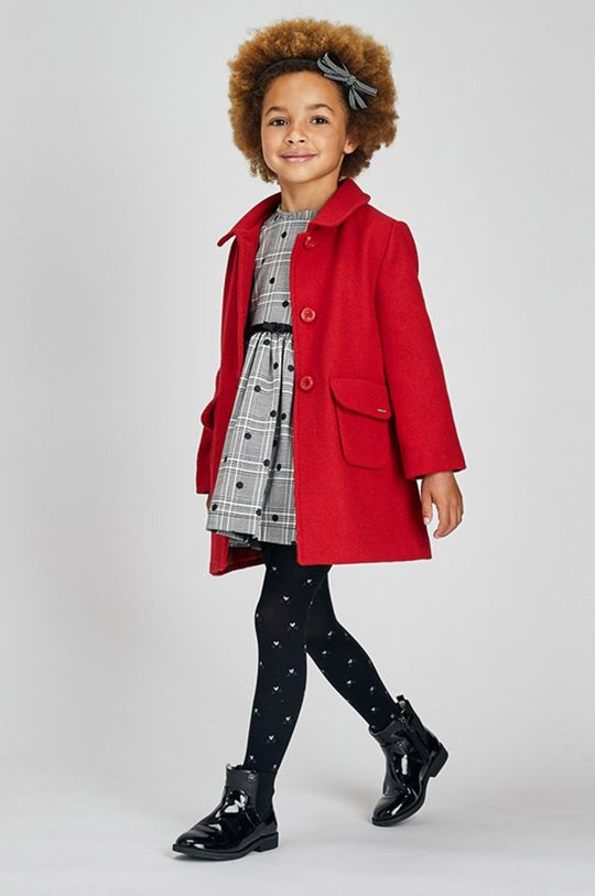 ostry czerwony Mayoral - Płaszcz dziecięcy Dziewczęcy