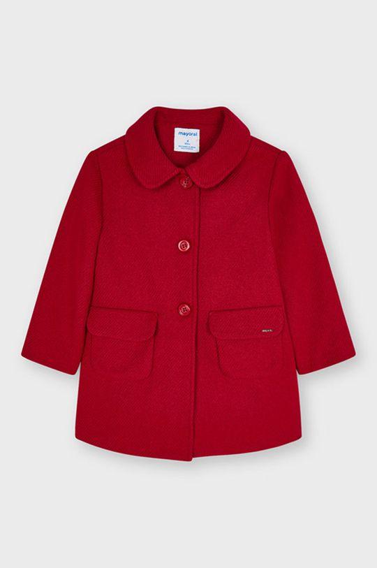 Mayoral - Płaszcz dziecięcy ostry czerwony