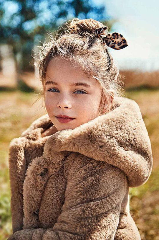 kawowy Mayoral - Płaszcz dziecięcy Dziewczęcy