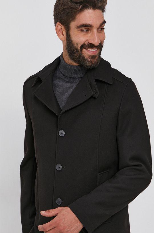 czarny Selected - Płaszcz