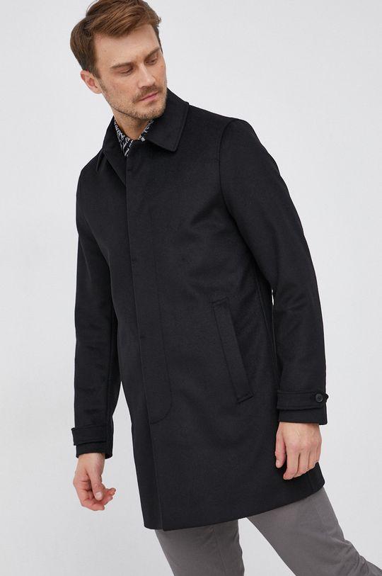 černá Tiger Of Sweden - Vlněný kabát Pánský
